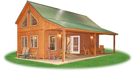 Getaway cabins pine creek structures for 16x32 cabin floor plans